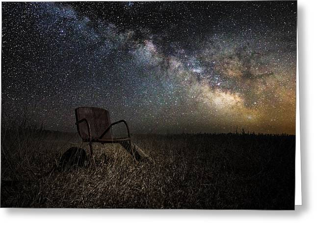 Gaze Greeting Cards - Redneck Planetarium Greeting Card by Aaron J Groen