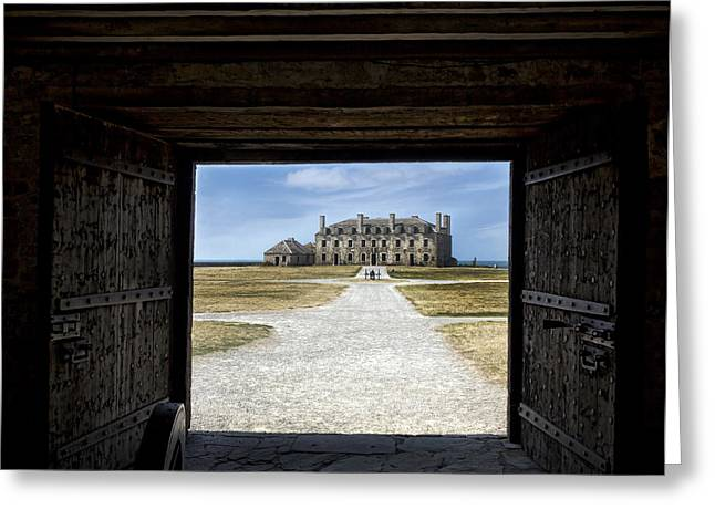 Redoubt Gates Greeting Card by Peter Chilelli