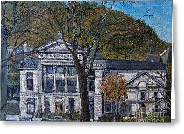 Redpath Museum Greeting Card by Reb Frost