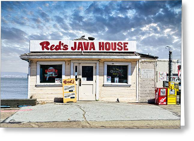 Old Fashoined Photographs Greeting Cards - Reds Java House Greeting Card by Tim Fleming