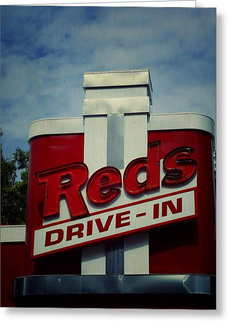 Menu Greeting Cards - Reds Greeting Card by Laurie Perry