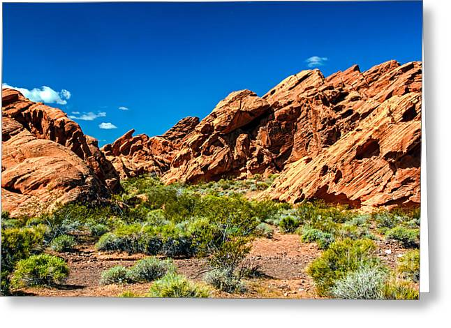 Redstone Picnic Area Greeting Card by Robert Bales