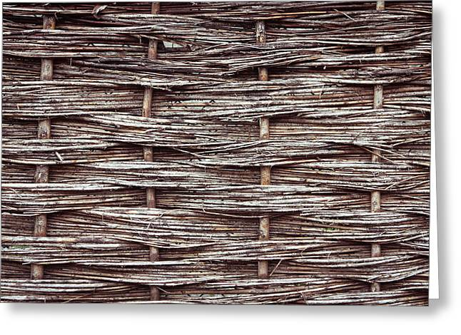 Reed fence Greeting Card by Tom Gowanlock