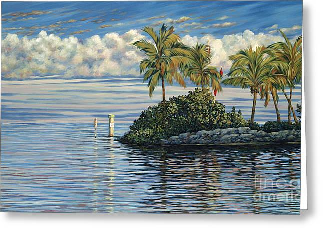 Danielle Perry Greeting Cards - Reef Channel Greeting Card by Danielle  Perry