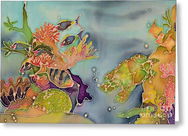 Sea Life Tapestries - Textiles Greeting Cards - Reef Greeting Card by Jamie Schab