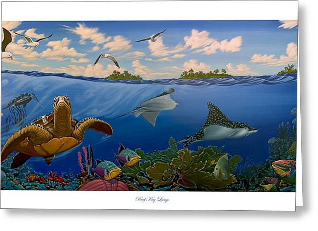 Philip Slagter Paintings Greeting Cards - Reef Key Largo Greeting Card by Philip Slagter
