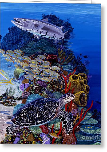 Reefs Edge Re0025 Greeting Card by Carey Chen