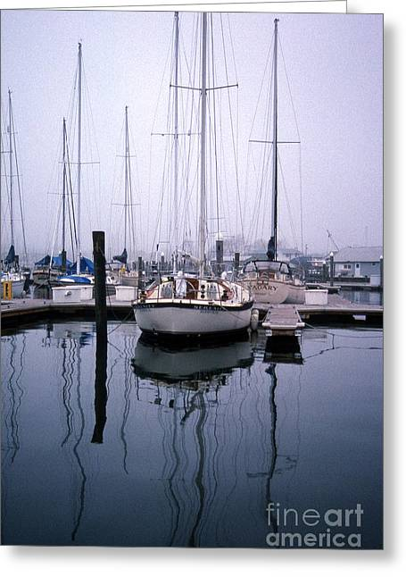 Recently Sold -  - Sailboat Images Greeting Cards - Refections Of Serenity Greeting Card by Skip Willits