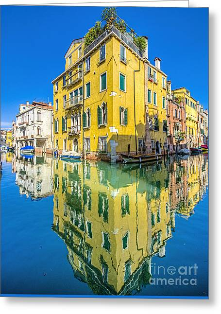 Dorsoduro Greeting Cards - Refelections Greeting Card by Paul and Helen Woodford
