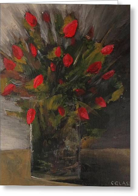 Glass Vase Greeting Cards - Refined. Greeting Card by Christina Glaser