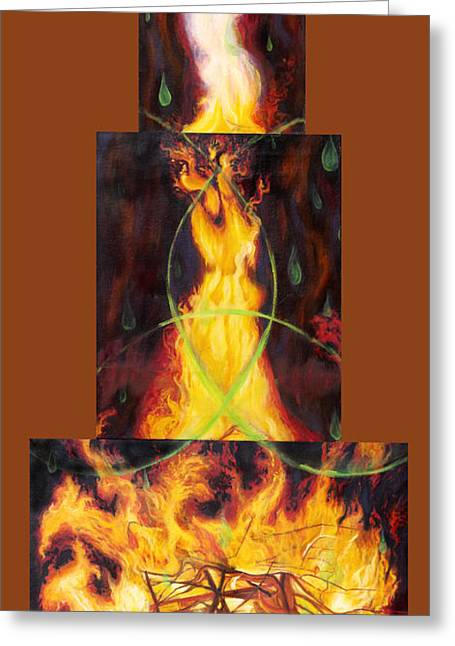 Anne Cameron Cutri Greeting Cards - Refiners Fire Greeting Card by Anne Cameron Cutri
