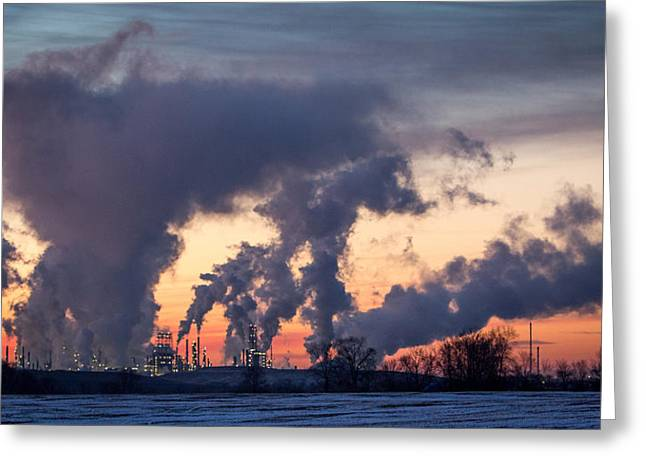 Power Plants Greeting Cards - Flint Hills Resources Pine Bend Refinery Greeting Card by Patti Deters