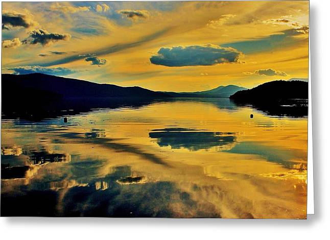 Reflecting Water Greeting Cards - Reflect Greeting Card by Benjamin Yeager