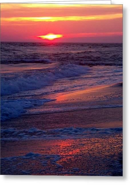 Ocean Art Photos Greeting Cards - Reflected Beauty Greeting Card by Glenn McCurdy