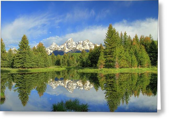 Snow Capped Greeting Cards - Reflected Beauty Greeting Card by Patti Burnett