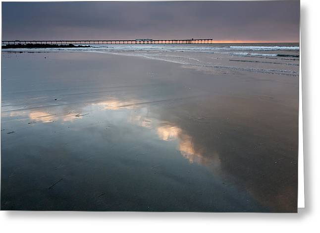 Locations Greeting Cards - Reflected Blue Greeting Card by Peter Tellone