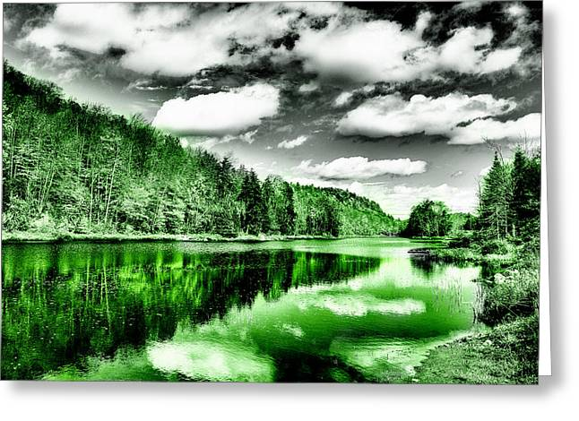 Lanscape Greeting Cards - Reflected Greens Greeting Card by David Patterson
