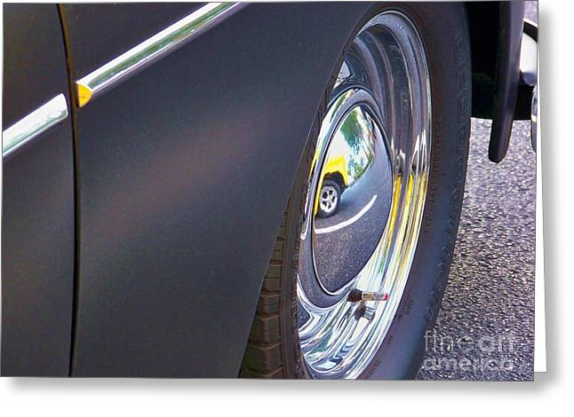 Paint Photograph Greeting Cards - Reflected Hub Cap Greeting Card by Chuck  Hicks