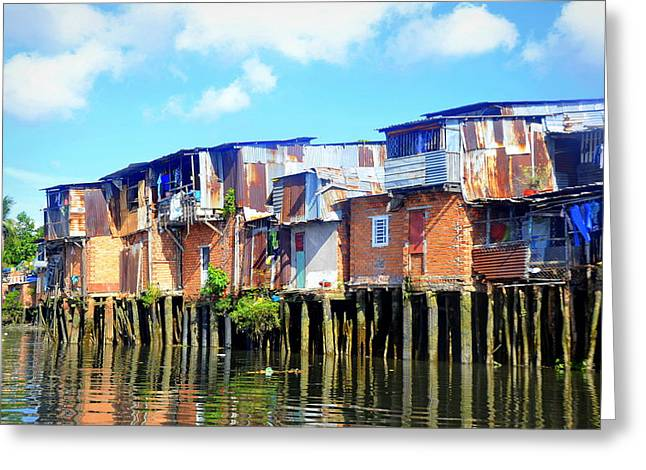 Faa Featured Greeting Cards - Reflected Squalor Greeting Card by Toni Abdnour