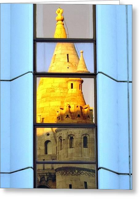 Reflecting On Budapest Greeting Card by Ramona Johnston