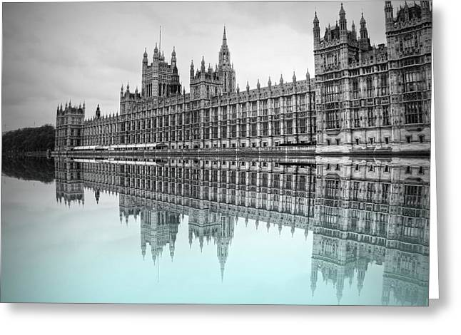 Politics Prints Greeting Cards - Reflecting on Politics Greeting Card by Sharon Lisa Clarke