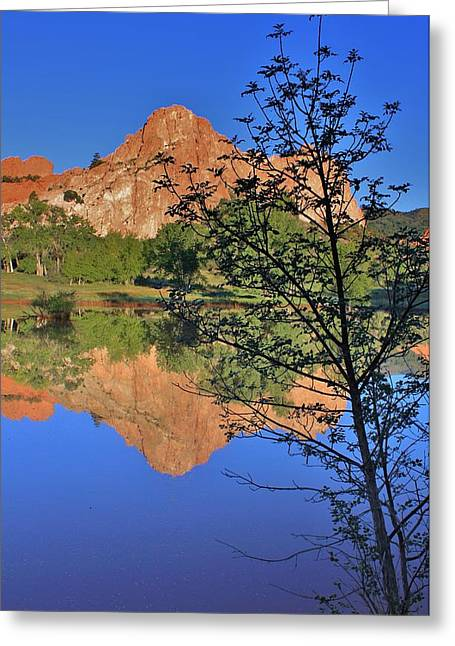 Reflections Of Sky In Water Greeting Cards - Reflecting on Solitude Greeting Card by Diane Alexander
