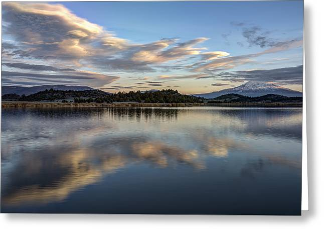 Reflecting On The Day Greeting Card by Loree Johnson