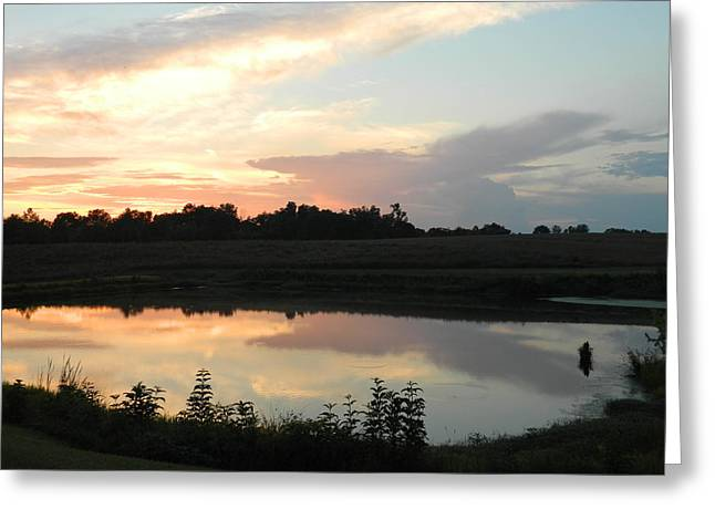 Reflecting Sky Greeting Card by Linda Brown