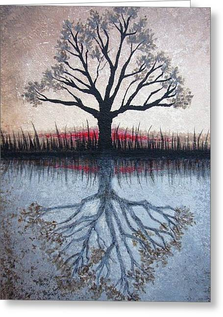 Best Sellers -  - Janet King Greeting Cards - Reflecting Tree Greeting Card by Janet King