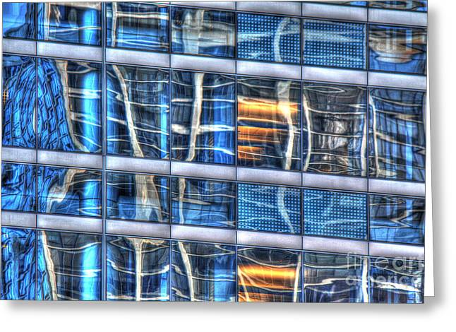 Warp Greeting Cards - Reflection 25 Greeting Card by Jim Wright