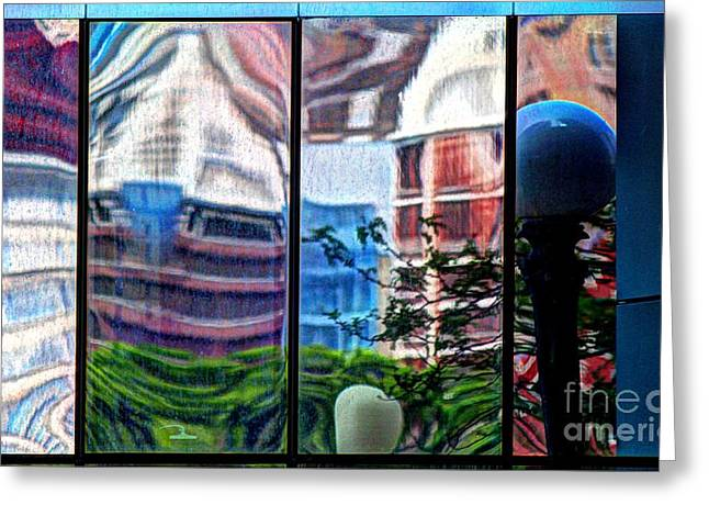 Skewed Greeting Cards - Reflection 33 Greeting Card by Jim Wright