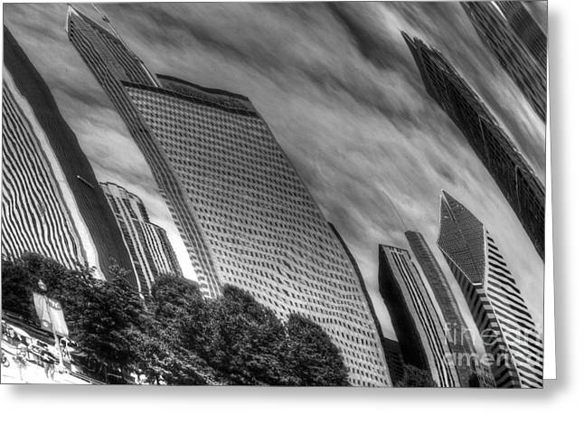 The Bean Greeting Cards - Reflection 36 Greeting Card by Jim Wright