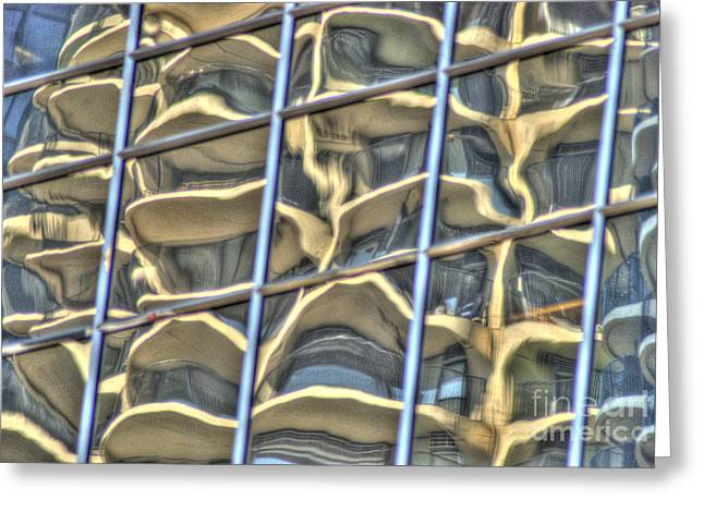 Warp Greeting Cards - Reflection 7 Greeting Card by Jim Wright