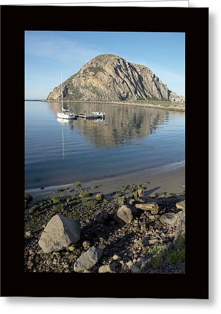 California Ocean Photography Paintings Greeting Cards - Reflection Anchorage Duvet Greeting Card by Barbara Snyder