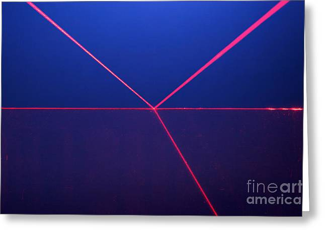 Geometric Effect Greeting Cards - Reflection And Refraction Greeting Card by GIPhotoStock