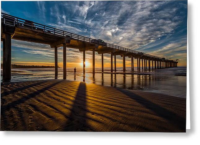 Ocean. Reflection Greeting Cards - Reflection and Shadow Greeting Card by Peter Tellone