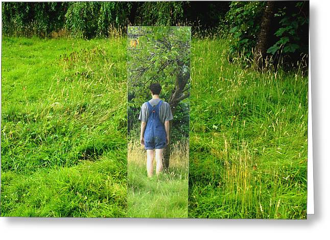 Dungarees Greeting Cards - Reflection Greeting Card by Ben Appleton