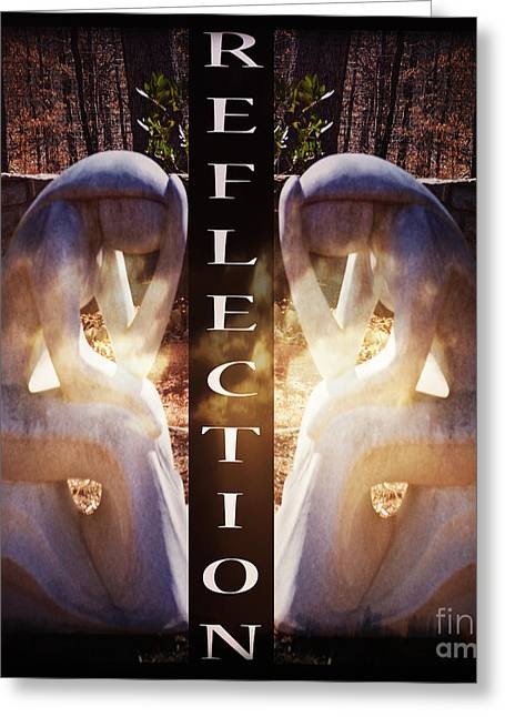 Greeting Cards - Reflection Greeting Card by Eva Thomas
