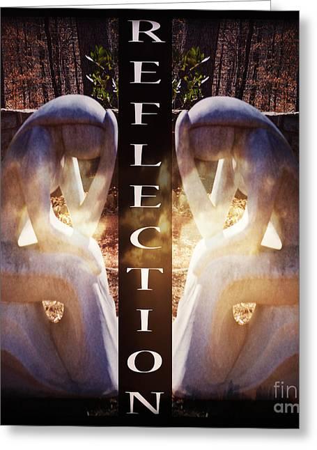 Reflection Greeting Card by Eva Thomas