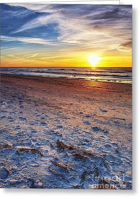 Sunset Posters Pyrography Greeting Cards - Reflection Greeting Card by Eyzen M Kim