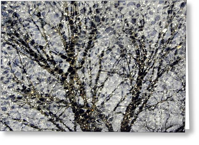 Reflection In Water Greeting Cards - Reflection in a Sidewalk Puddle Greeting Card by Sarah Loft