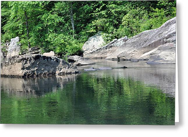 Photogaphy Greeting Cards - Reflection in Little River Canyon National Preserve Greeting Card by Bruce Gourley