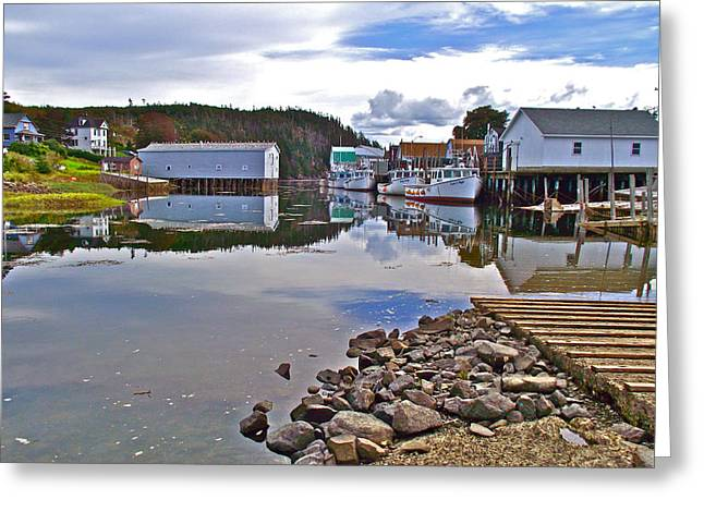 Reflections In River Digital Art Greeting Cards - Reflection in Little River in Digby Neck-NS Greeting Card by Ruth Hager