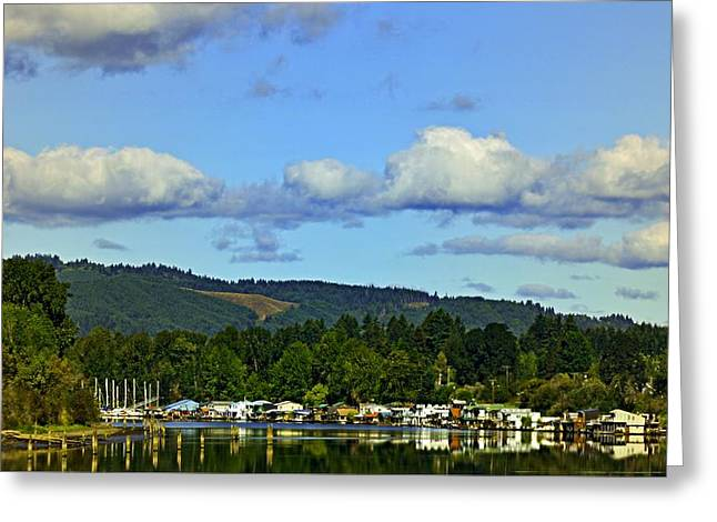 Sauvie Island Greeting Cards - Reflection In The Lake Greeting Card by Image Takers Photography LLC - Carol Haddon