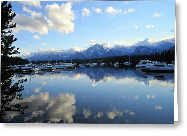 Teton Greeting Cards - Reflection Lake 2 Greeting Card by Mike Podhorzer