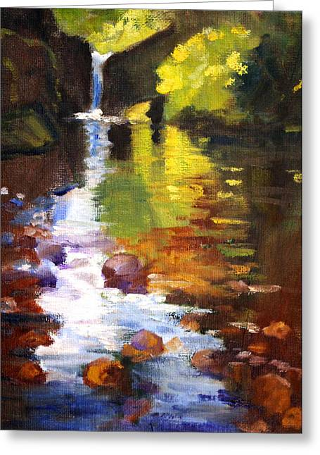 Wa Paintings Greeting Cards - Reflection Greeting Card by Nancy Merkle