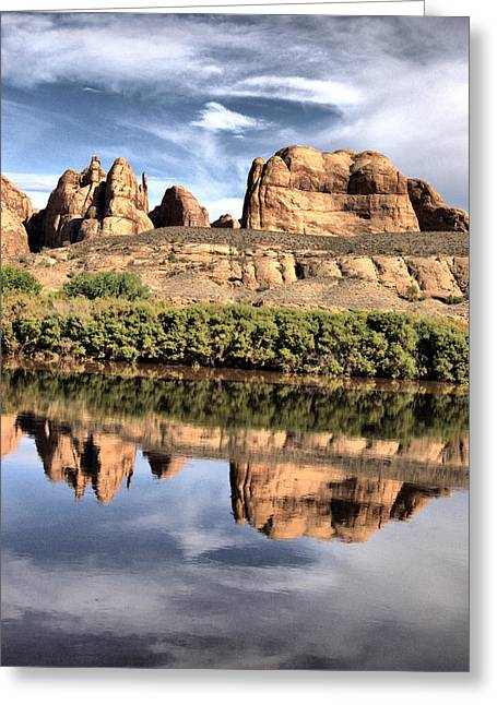 Rock Jewelry Greeting Cards - Reflection Greeting Card by Nena Trapp