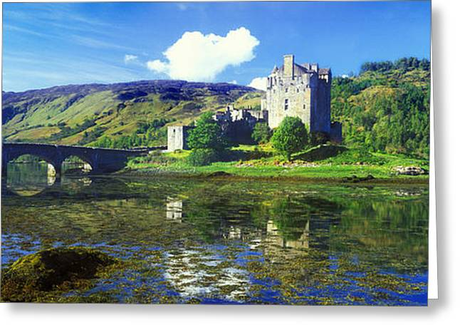 Moss Greeting Cards - Reflection Of A Castle And A Mountain Greeting Card by Panoramic Images
