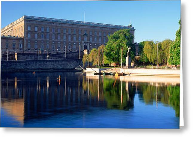 Royal Palace Greeting Cards - Reflection Of A Palace In Water, Royal Greeting Card by Panoramic Images