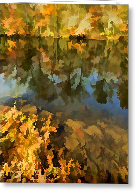 Dï¿¿r Greeting Cards - Reflection of Autumn Colors on the Canal II Greeting Card by David Letts
